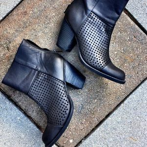 Black Perforated Booties